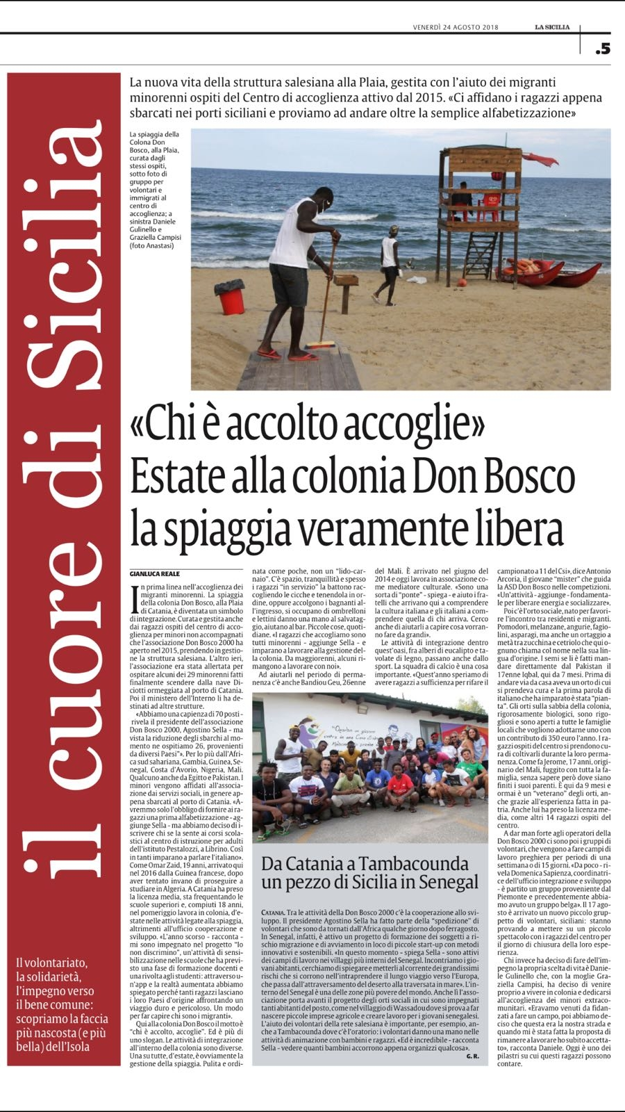 Un'estate alla colonia Don Bosco: la spiaggia veramente libera