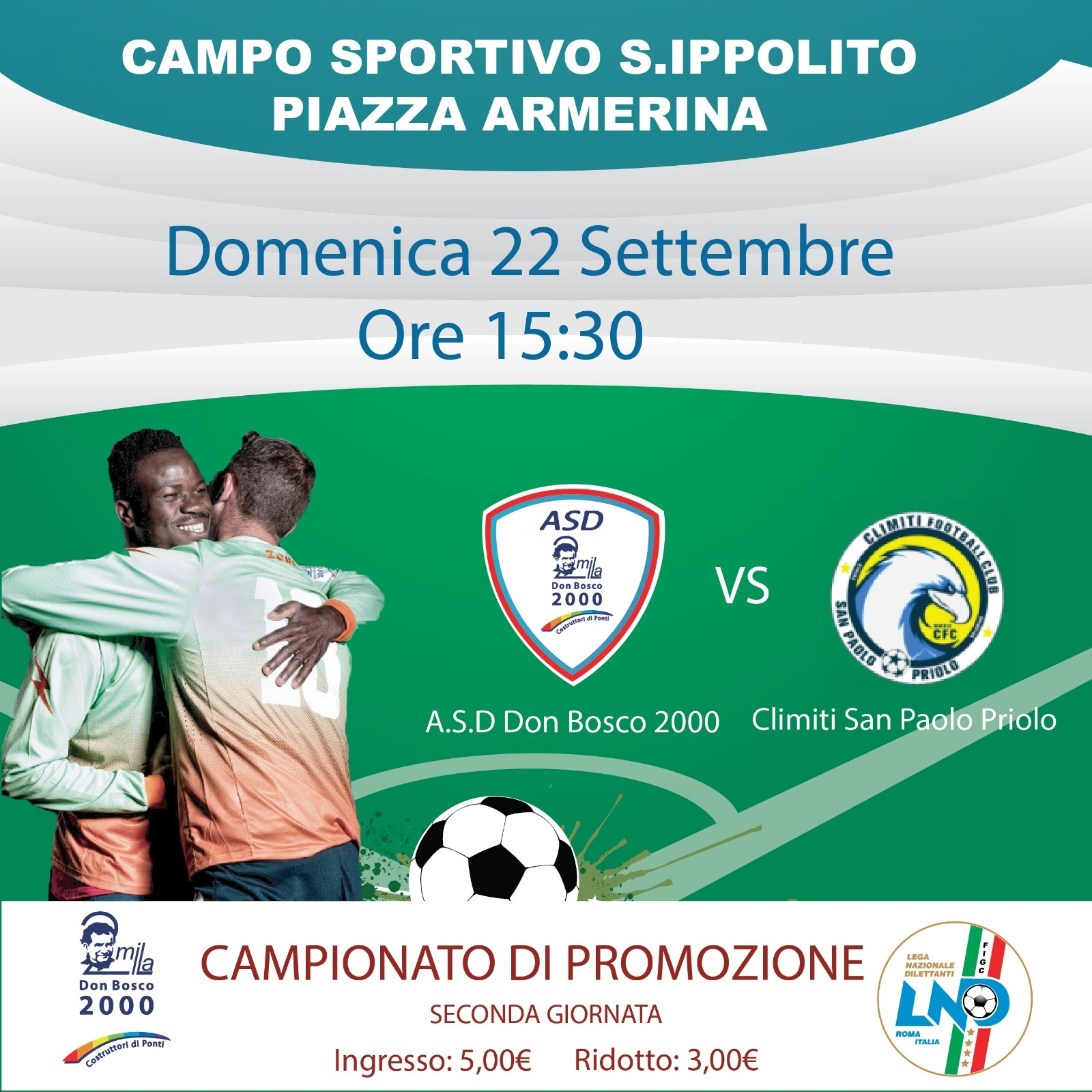 Seconda di campionato per l'ASD Don Bosco 2000